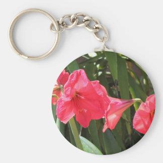 Red Amaryllis Keychain