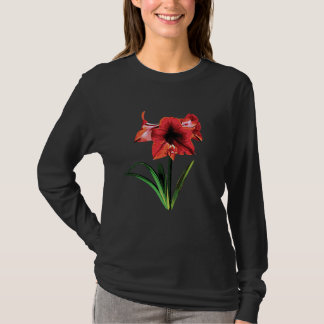 Red Amaryllis Ladies T-Shirt