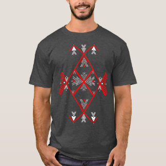 Red Amazigh design T Shirt Men
