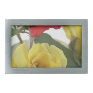 Red amd Yellow Roses Belt Buckle