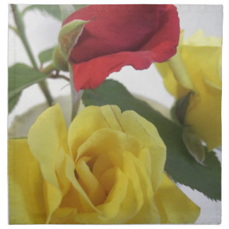 Red amd Yellow Roses Napkin