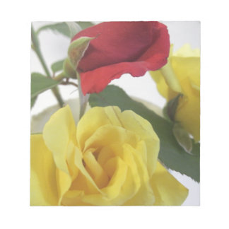 Red amd Yellow Roses Notepad