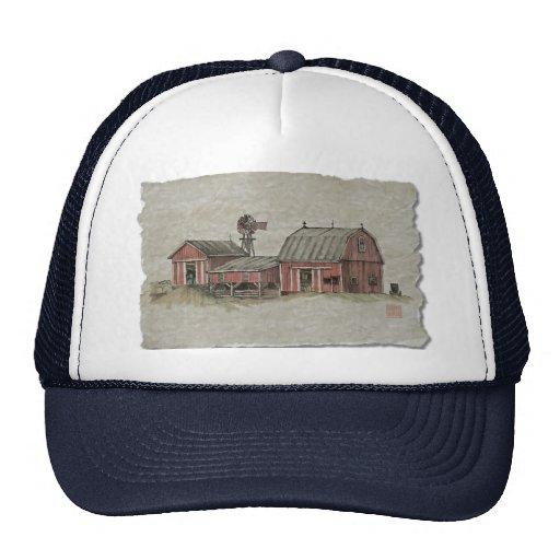 Red Amish Barn & Windmill Hat