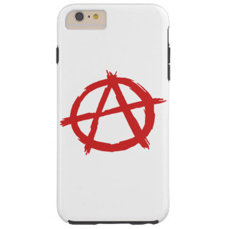 Red Anarchist A Symbol Anarchy Logo Tough iPhone 6 Plus Case