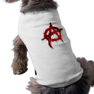 Red Anarchy Symbol Doggie T Shirt
