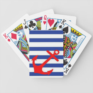 Red Anchor Bicycle Playing Cards