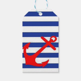 Red Anchor Gift Tags