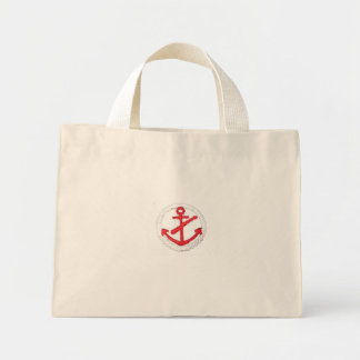 Red Anchor Nautical Purse Mini Tote Bag