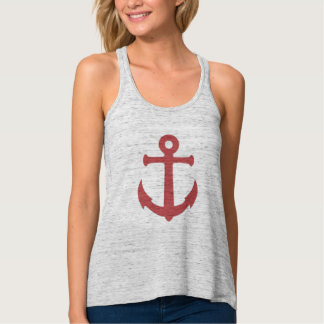 Red Anchor Tank Top