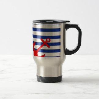 Red Anchor Travel Mug