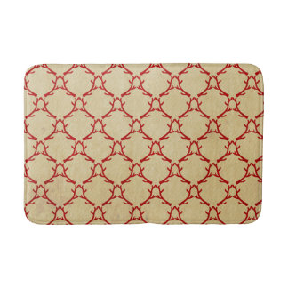 Red and Beige Woodland Antler Bath Mat