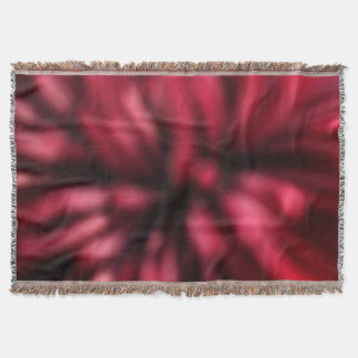 Red and Black Abstract Art Afghan Throw Blanket