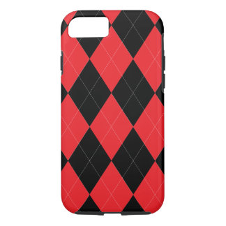 Red and Black Argyle iPhone 7 Case