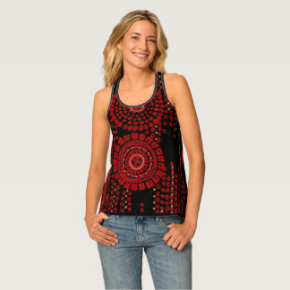 Red and Black Art Moderne Design Tank Top