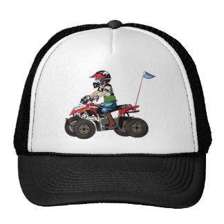 Red and Black ATV Kid Mesh Hats