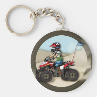 Red and Black ATV Kid Key Chain