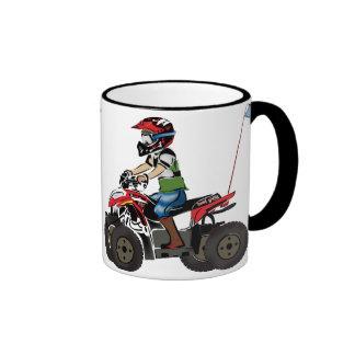 Red and Black ATV Kid Coffee Mugs