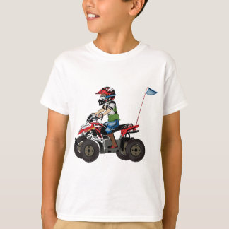 Red and Black ATV Kid Tee Shirt