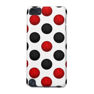 Red and Black Basketball Pattern iPod Touch 5G Cover