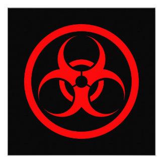 Red and Black Bio Hazard Circle Personalized Invitation