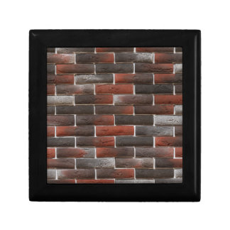 RED AND BLACK BRICK WALL GIFT BOX