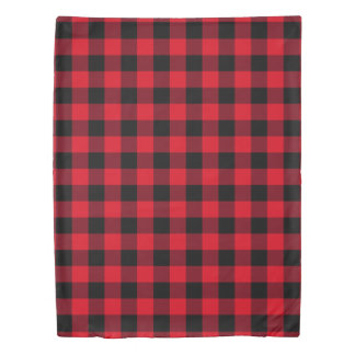 Red and Black Buffalo Check Duvet Cover