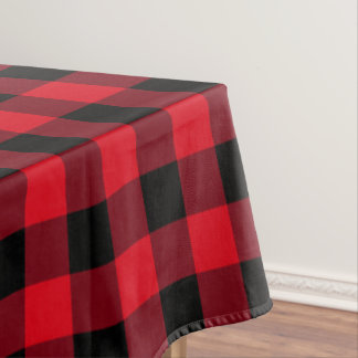 Red and Black Buffalo Check Tablecloth