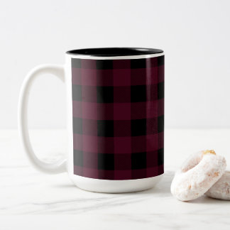 Red and Black Buffalo Plaid | Choose Your Style Two-Tone Coffee Mug