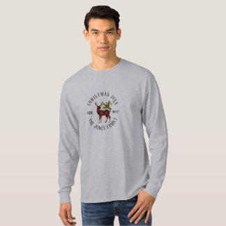 Red and Black Buffalo Plaid  Christmas Reindeer T-Shirt