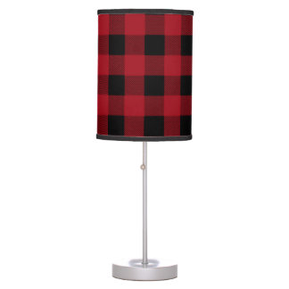 Red and Black Buffalo Plaid Table Lamp