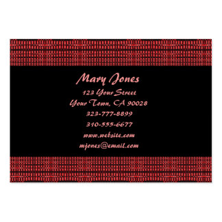 red and black pack of chubby business cards