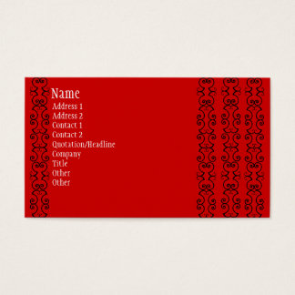 Red and Black Business Cards