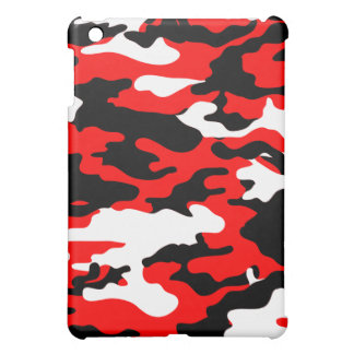 Red and Black Camo iPad Mini Case