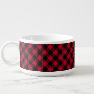 Red And Black Check Buffalo Plaid Pattern Bowl