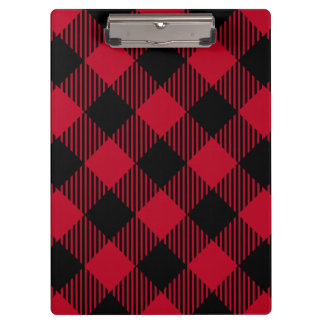 Red And Black Check Buffalo Plaid Pattern Clipboard