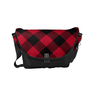 Red And Black Check Buffalo Plaid Pattern Courier Bag