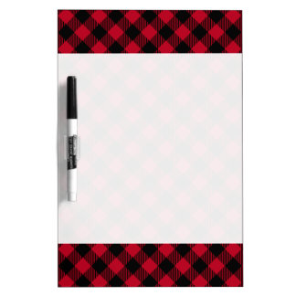 Red And Black Check Buffalo Plaid Pattern Dry Erase Board