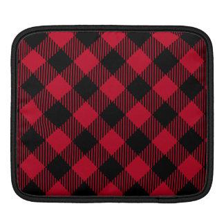 Red And Black Check Buffalo Plaid Pattern iPad Sleeve