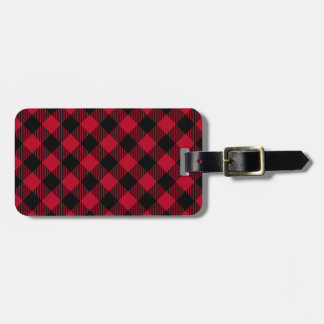 Red And Black Check Buffalo Plaid Pattern Luggage Tag