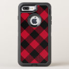 Red And Black Check Buffalo Plaid Pattern OtterBox Defender iPhone 8 Plus/7 Plus Case