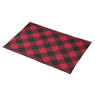 Red And Black Check Buffalo Plaid Pattern Placemat