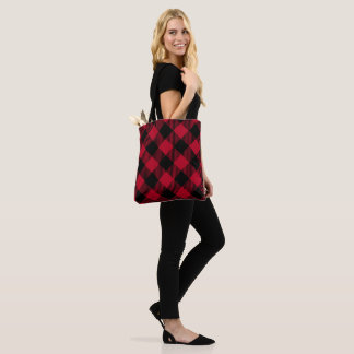 Red And Black Check Buffalo Plaid Pattern Tote Bag