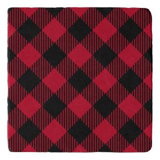 Red And Black Check Buffalo Plaid Pattern Trivet