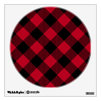 Red And Black Check Buffalo Plaid Pattern Wall Decal
