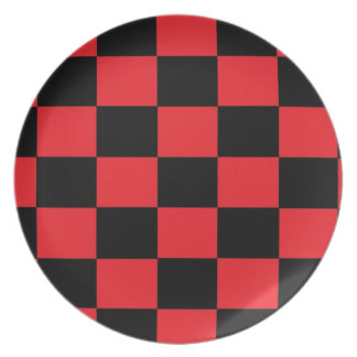 Red and Black Checkered Plate