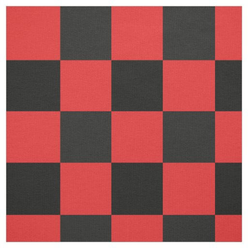 Red and black chequerboard pattern fabric