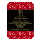 Red and Black Cherry Blossoms Wedding Invitation