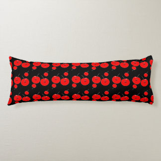 Red And Black Cherry Pattern Body Pillow
