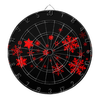 Red and Black Christmas Banner Dart Boards
