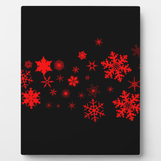 Red and Black Christmas Banner Plaque